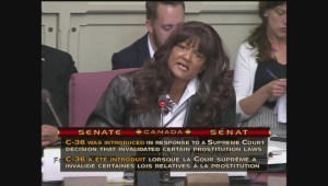 """Canada's most famous dominatrix"" tossed out of Senate hearings on proposed prostitution law"