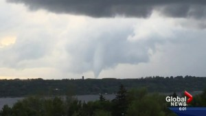 One confirmed tornado touched down in southern Saskatchewan Wednesday