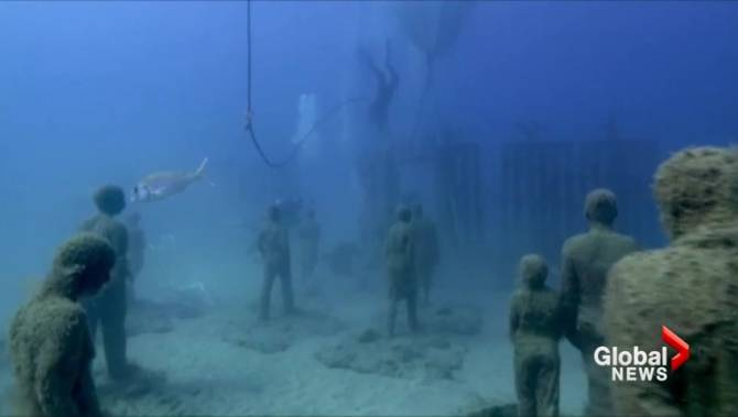 europe s first underwater museum officially opens in spain On spain underwater museum