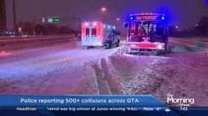 Winter storm blamed on 500+ collisions across GTA