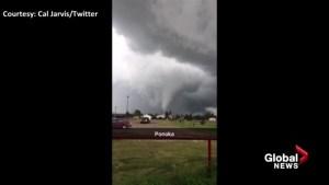 Possible tornado spotted near Ponoka