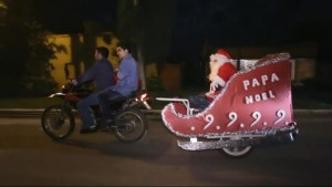 Motorcycle sled Santa delivers joy in Argentina