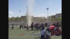 Student injured after being tossed into air during sudden dust devil