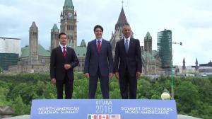 Trudeau, Obama, and Nieto pose for 'family photo' in Ottawa