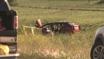 RAW: The scene of a crash that left one dead on Manitoba's Highway 3