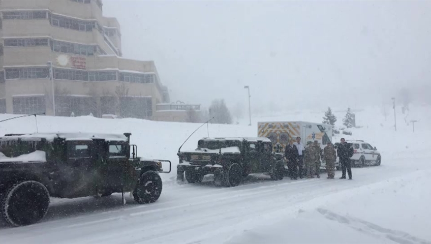 Toddler stable after snowplow convoy escorts him to hospital