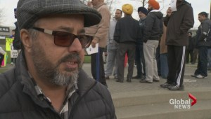 Truckers hold rally to protest job losses