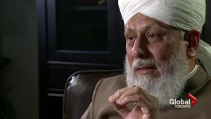 Leader of Ahmadiyya Muslim sect concerned about weapon sales to Middle East