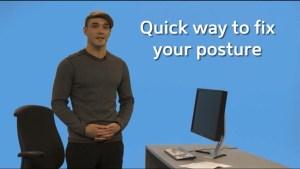 Quick way to fix your posture