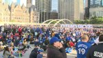 'Birds Nest' at City Hall crowded with Jays fans amid Game 5