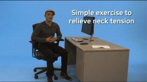 Simple exercises to relieve neck tension