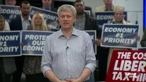 Harper once again uses individual voter to outline supposed dangers of Liberal tax plan