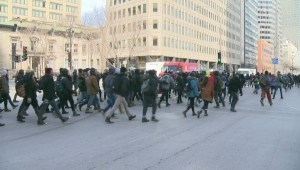 Raw video: Montreal anti-austerity protests