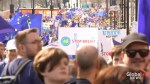 Tens of thousands march to U.K. parliament against Brexit