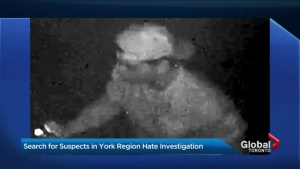 Police release surveillance video of suspects in Markham hate graffiti incidents