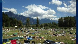 Cleaning up Pemberton Music Festival mess
