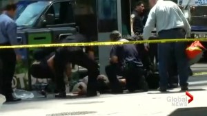 New York emergency crews rush to help victims of Times Square crash