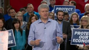 Harper tells conservative Canadians get out and vote