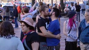 LGBT groups stage PDA protest outside Trump International Hotel