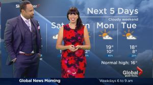 Global News Morning weather forecast: Friday, September 30