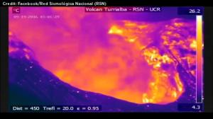 Infrared camera captures spectacular turrialba volcano eruption