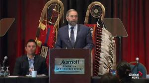 Mulcair begins aboriginal rights speech by describing two sides of Canada