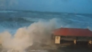 Storm Imogen whips up monster waves along U.K. shore