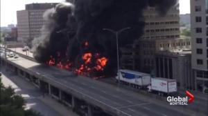 Fiery accident on Highway 40