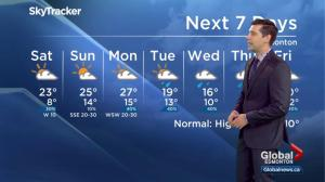 Edmonton weather forecast: June 23