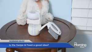 New gadget lets moms 'Swipe & Feed'
