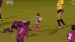 4-year-old invading rugby pitch and scoring is just too cute
