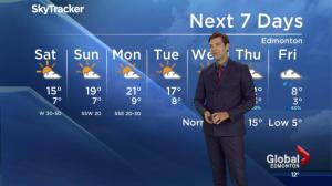 Edmonton Weather Forecast: September 23