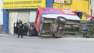 Serious crash in Winnipeg involving stolen vehicle sends two to hospital