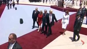 Did Melania Trump just 'shoo' away her husband's hand?