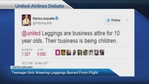 United Airlines generates controversy about leggings dress code