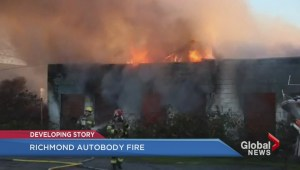 Richmond autobody shop catches fire