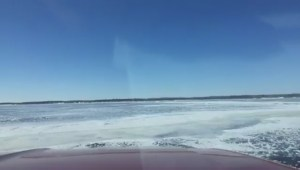 Facebook video shows truck going through ice on Lake Winnipeg
