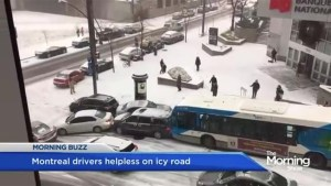 Winter arrives in Montreal and drivers aren't happy