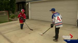 "Young hockey fans face off in a new ""Battle of Alberta"""