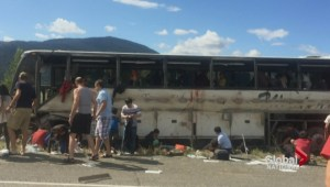 Bus accident on high-speed B.C. highway