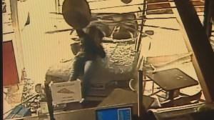 RAW: Car crashes into pizza shop in Colorado