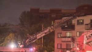 RAW: Overnight fire in Pierrefonds