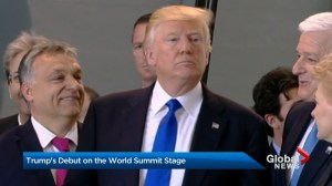 Trump's debut on the world summit stage