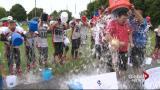 West Island football team takes the ice bucket challenge