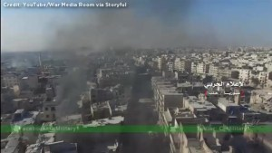 Drone footage shows utter devastation of east Aleppo