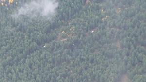 Aerial view of plane crash site that killed 4, including former Alberta Premier Jim Prentice