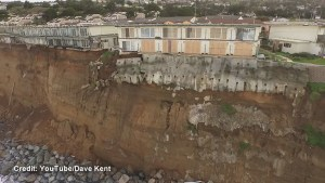 Drone captures incredible erosion along California coastal community caused by El Niño