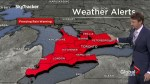 Freezing rain warning issued for southern Ontario