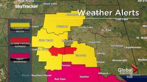 Severe thunderstorm warnings issued for areas near Edmonton