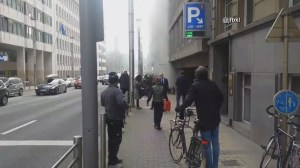 Belgians capture panic as deadly explosions rip through Brussels